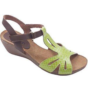 Sandalias verde lince
